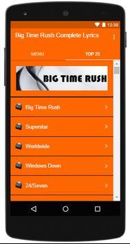 Big Time Rush Complete Lyrics apk screenshot