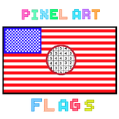 Pixel-Art Flags: Color By Number Coloring game icon