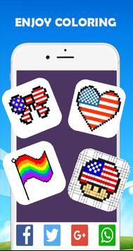 Pixel-Art Flags: Color By Number Coloring game poster