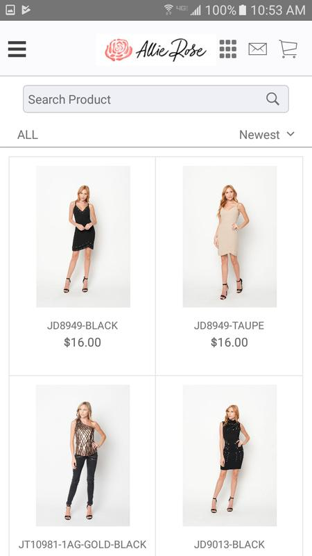 10c49203f71 Allie Rose  Wholesale Clothing poster Allie Rose  Wholesale Clothing  screenshot 1 ...