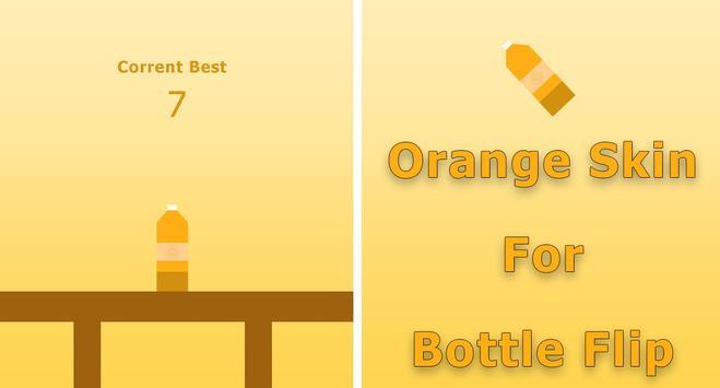 Orange Skin for Bottle Flip poster