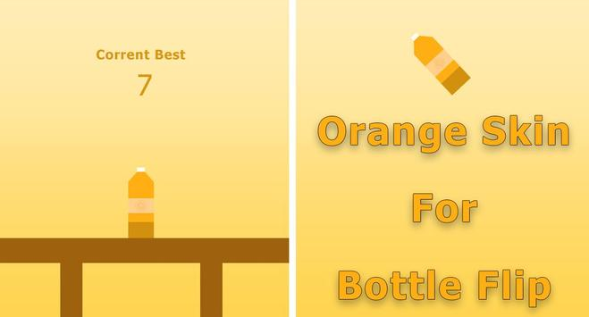 Orange Skin for Bottle Flip poster