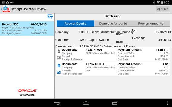 Receipt Batch Appr - JDE E1 screenshot 6