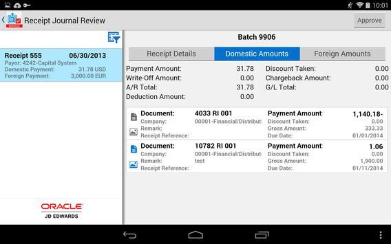 Receipt Batch Appr - JDE E1 screenshot 7