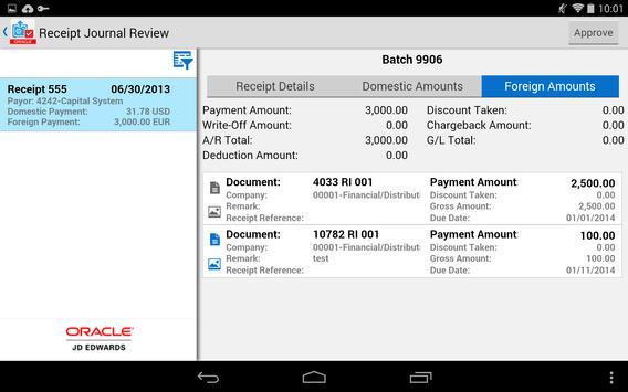 Receipt Batch Appr - JDE E1 screenshot 8