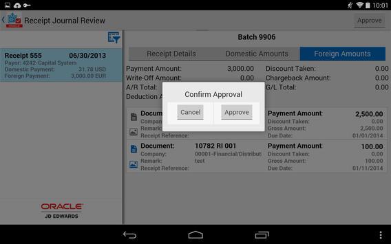 Receipt Batch Appr - JDE E1 screenshot 9