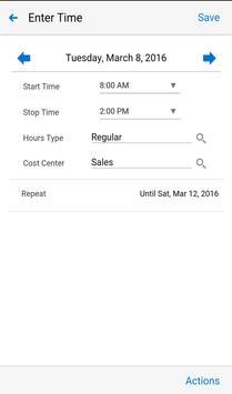 Timecards for EBS apk screenshot