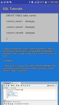 SQL Tutorials screenshot 3