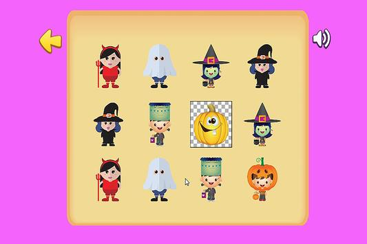 halloween match game for kids poster halloween match game for kids apk screenshot