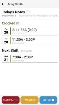 Orbital Shift Punch Clock apk screenshot