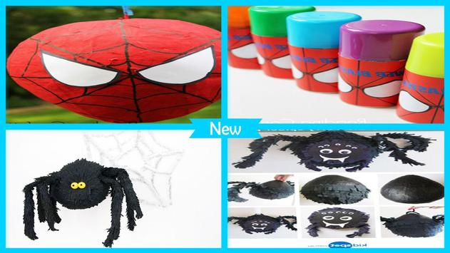 Easy DIY Paper Spider Pinata For Kids poster