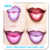 Easy treatment for dark lips icon