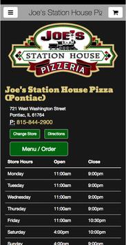 Joe's Station House Pizza poster
