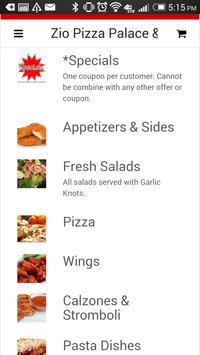 Zio Pizza Palace and Grill apk screenshot