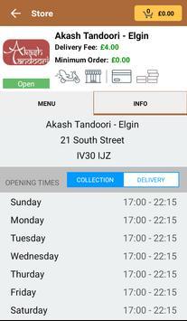 Akash Tandoori - Elgin screenshot 2