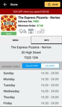 The Express Pizzeria apk screenshot
