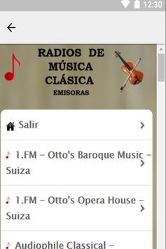 Radios de Música Clásica apk screenshot