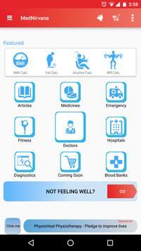 Healthcare App - MedNirvana poster