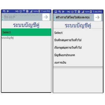 ระบบบัญชีคู่ screenshot 1
