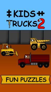 Kids Trucks: Puzzles 2 poster