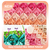 Easy Crochet Box Stitch Tutorial icon