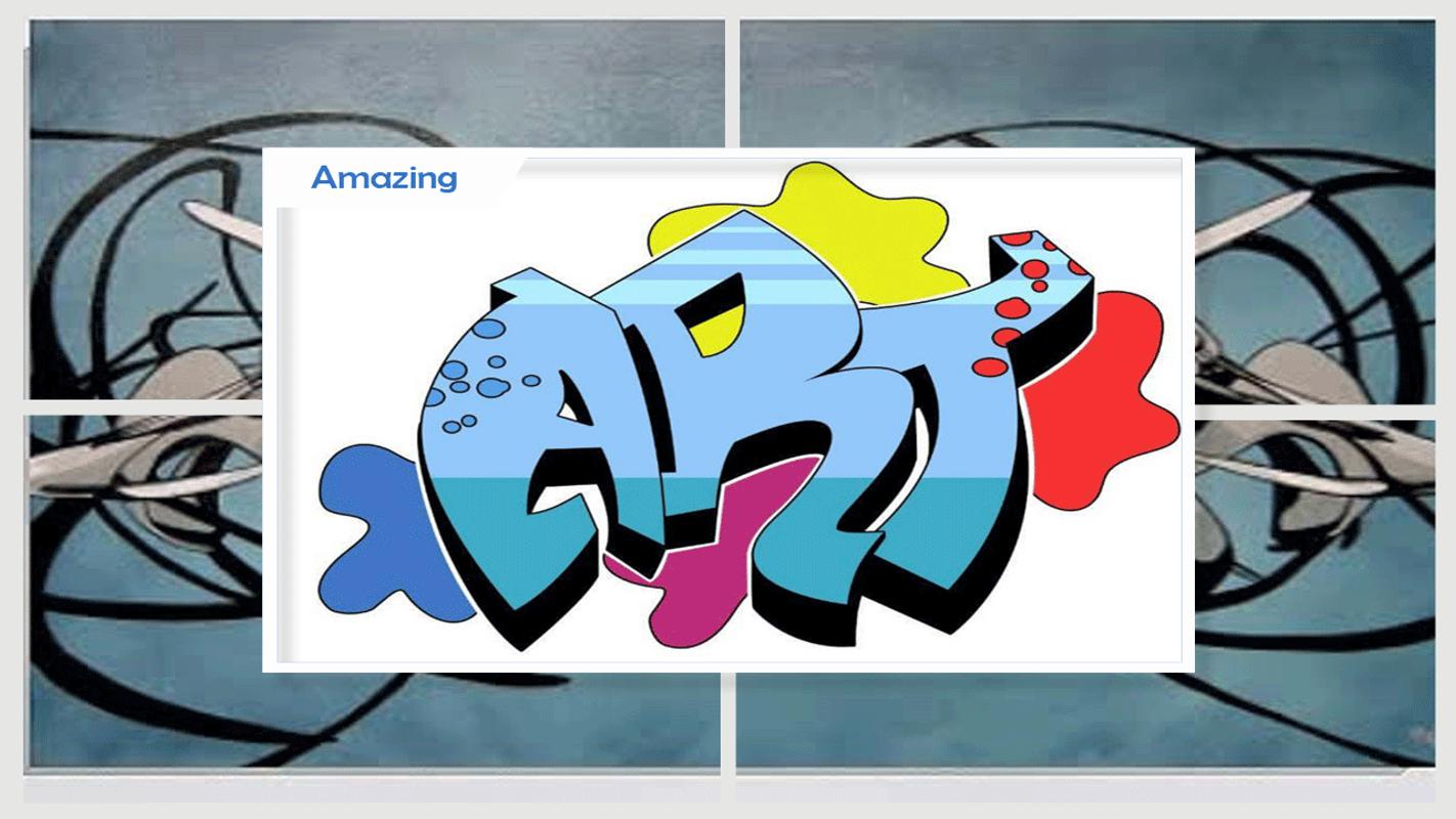 Bagaimana menggambar graffiti 3d screenshot 4