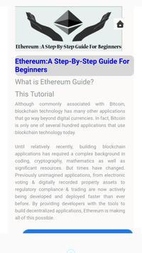 Ethereum: A Step-By-Step Guide For Beginners apk screenshot