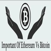 Important Of Ethereum Vs Bitcoin icon