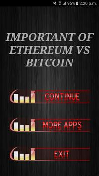 Important Of Ethereum Vs Bitcoin poster