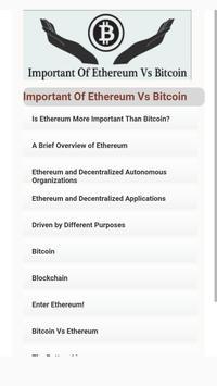 Important Of Ethereum Vs Bitcoin apk screenshot