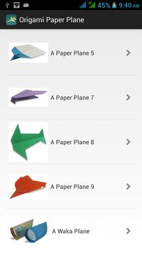 Origami Paper Plane Poster