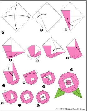 origami tutorial idea poster