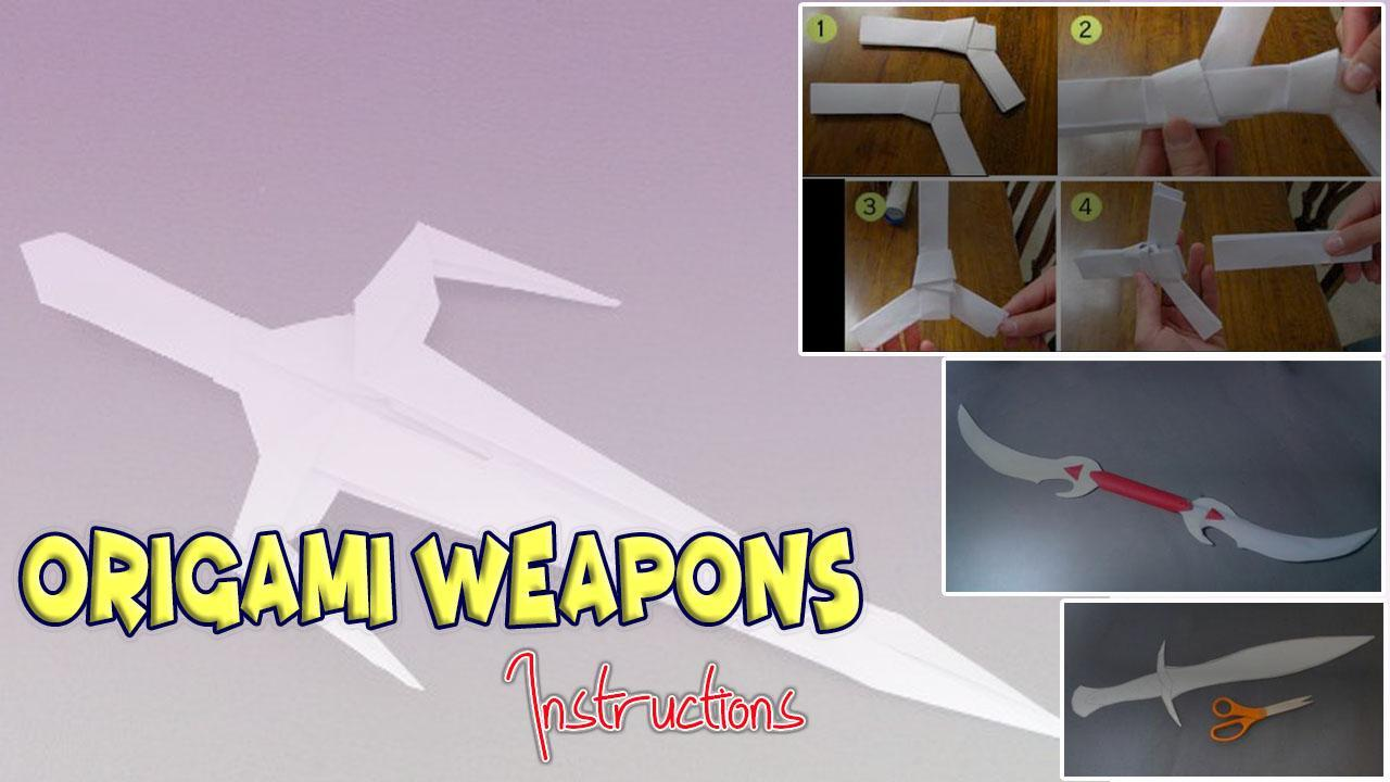 Origami Weapons Instructions poster