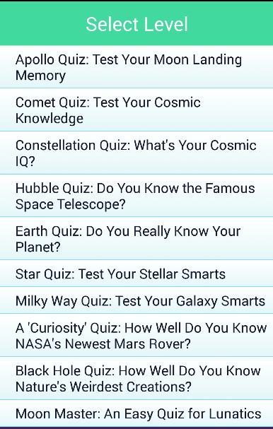 Space Quiz Questions & Answers for Android - APK Download