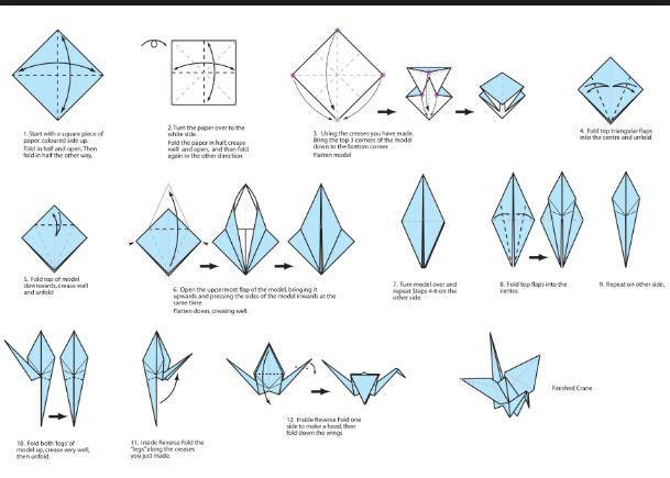 Easy Origami Crane Tutorial - Tsuru - Paper Kawaii - YouTube | 435x609
