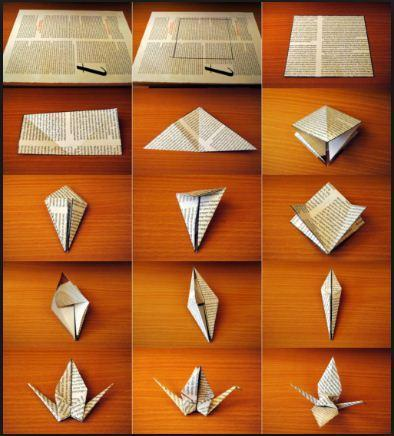 Origami Celebration Paper Crane - How to Make an Origami Flapping ... | 436x394