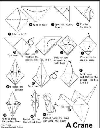 Paper Crane Tutorial to Help Your Children & Those in Japan ... | 441x346