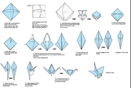 Origami Crane - Easy Origami Crane Tutorial - YouTube | 372x557