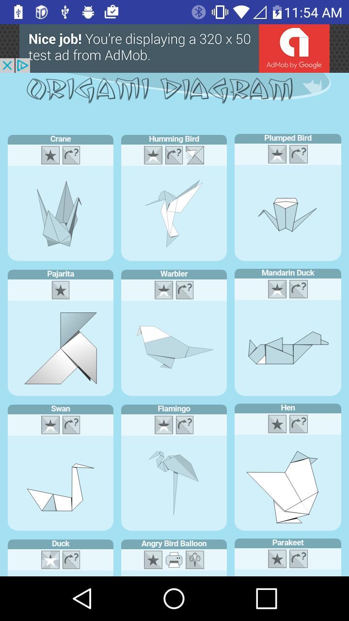 Origami Diagram poster