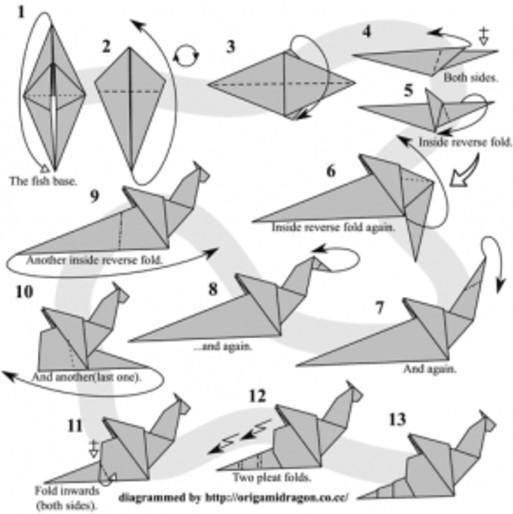 How to Make an Origami Dragon (with Pictures) - wikiHow | 514x513