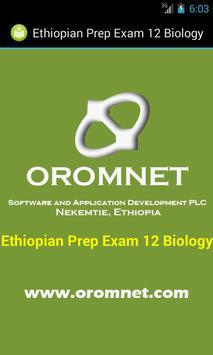 Biology Prep Exam Ethiopia G12 poster