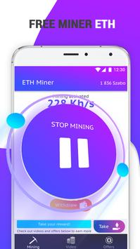 Ethereum Mining Pool: Free ETH Miner poster