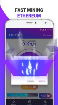 Ethereum Mining Pool: Free ETH Miner screenshot 1