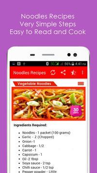 Noodles Recipes in English apk screenshot