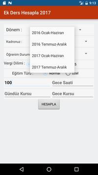 Ek Ders Hesapla 2017 screenshot 1