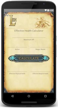 Effective Health Calc for LoL poster