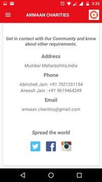 Armaan Charities screenshot 4