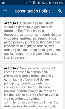 Constitución de Colombia poster