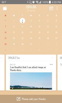 Thanks Diary apk screenshot