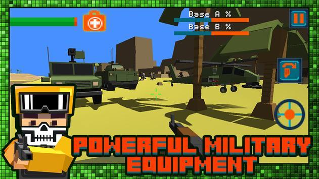 Gun Battle Pixel Field 3D poster